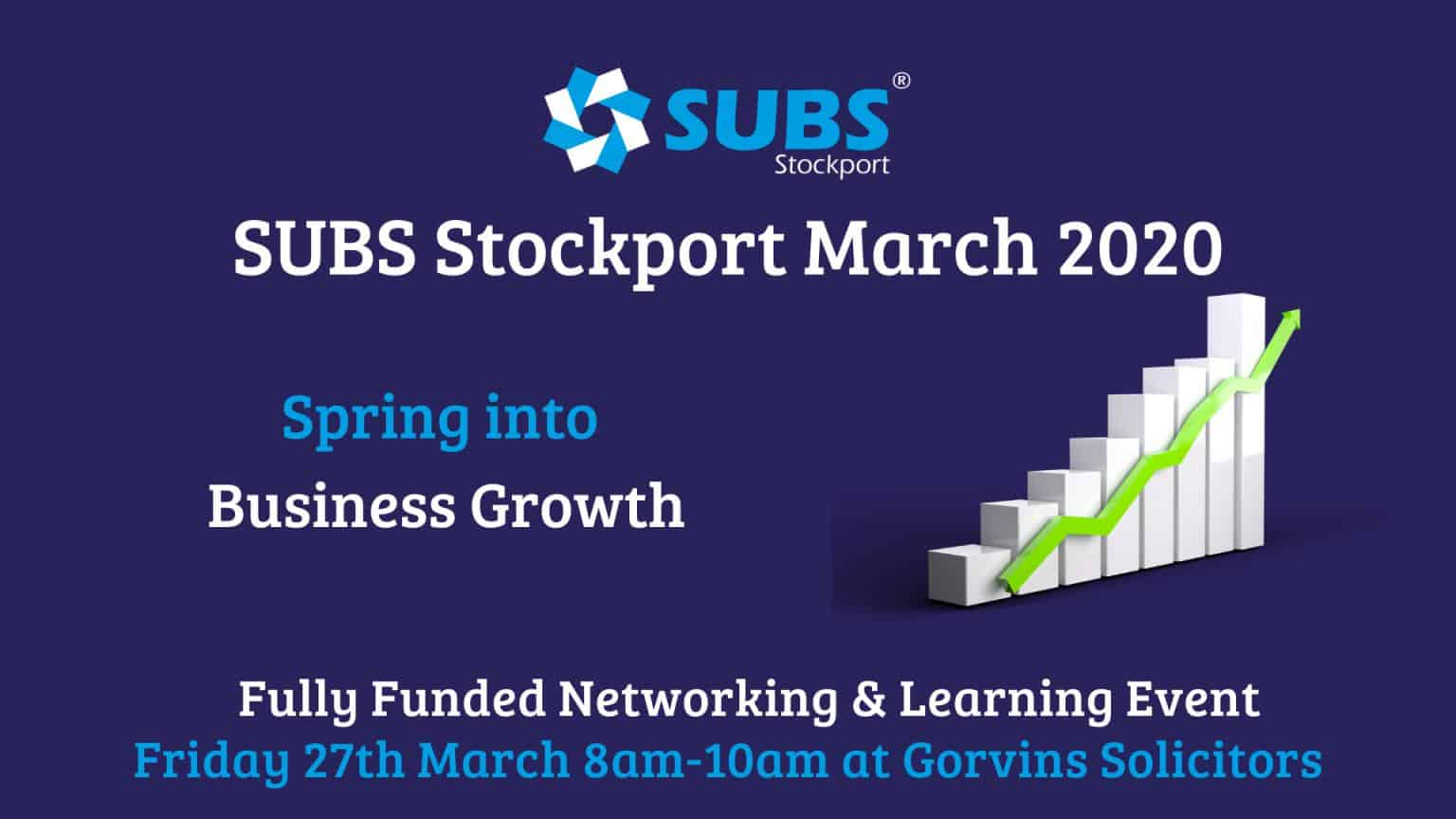 SUBS Stockport March 2020